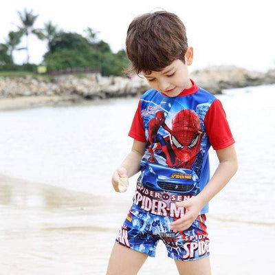 Spiderman High Quality Short Sleeve Swimwear Set for Boys - Peeksify.com