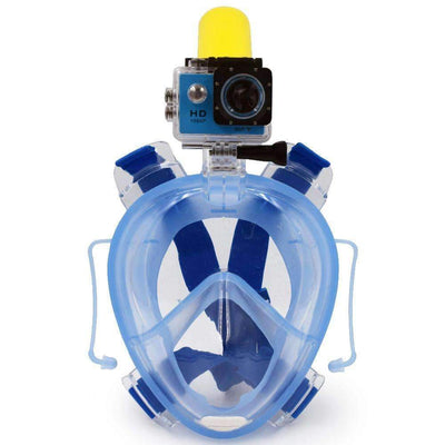 Scuba Anti-Fog Full Face Diving Snorkeling Mask Set with Earplugs and Sports Camera Mount - Peeksify.com