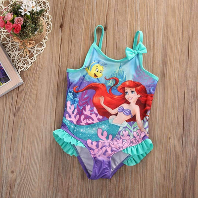 The Little Mermaid Printed Summer Swimsuit for Girls - Peeksify.com