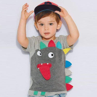 3D Colorful Monster Summer Cotton T-Shirt for Baby Boys - Peeksify.com