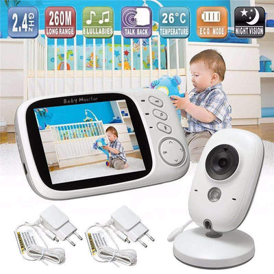 "VB603 3.2"" LCD IR Night Vision 2-Way Talk & Temperature Monitor Baby Monitor - Peeksify.com"
