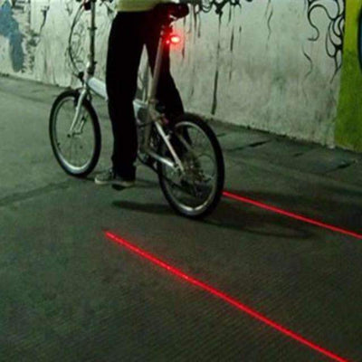 Bicycle LED Light 2 Lasers Night Mountain Bike Tail Light - Peeksify.com