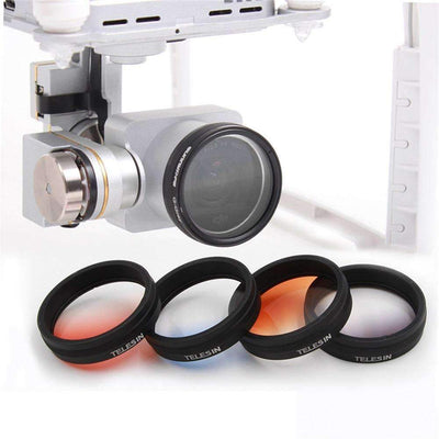4PCS/Set Graduated Color Filter Kit for DJI Phantom 3 & 4 - Peeksify.com