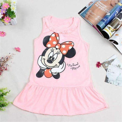 MINNIE MOUSE Cotton Summer Comfortable Dress for Girls, Girl Dresses - Peeksify.com