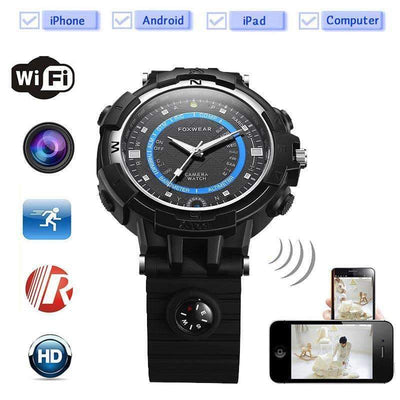 Sports 5.0MP WiFi P2P IP 8GB Built-In Memory Watch Mini Spy Video Recorder Camera [iOS & Android] - Peeksify.com
