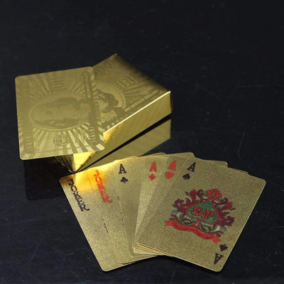 24K Gold Foil Plated Poker Playing Cards [US DOLLARS EDITION] - Peeksify.com