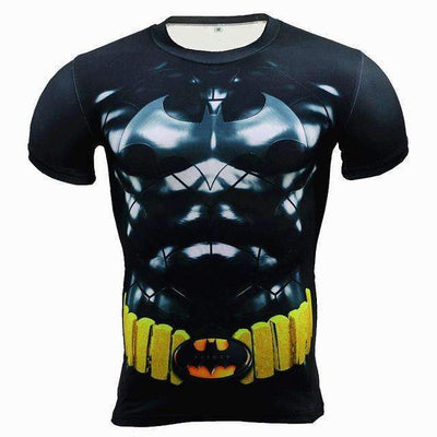 Anime Superhero BATMAN Fitness Bodybuling Crossfit Compression 3D T-Shirt for Men - Peeksify.com