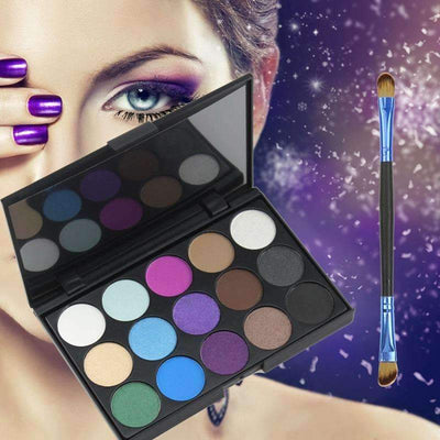 15 Earth Color Matte Glitter Eyeshadow Makeup Palette Set - Peeksify.com