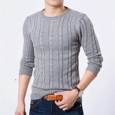 Casual Fashion Cotton O-Neck Pullover Sweater for Men - Peeksify.com