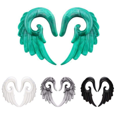 Acrylic Angel Wings Ear Piercings [4 Colors Available in 8 Different Sizes], Piercings - Peeksify.com