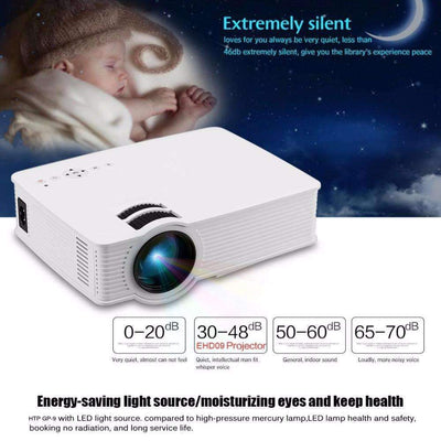 GP-9 Home Cinema Theater HD Video 2 USB 2000 Lumens 1920x1080 Mini LED Projector, LED Mini Projectors - Peeksify.com