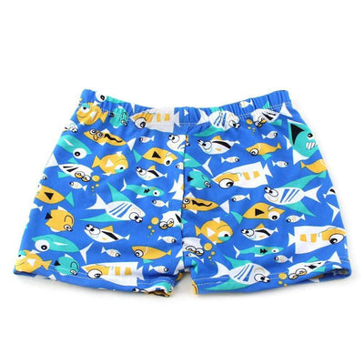 Fishes Printed Beach Swimsuit Shorts for Boys, Boy Swimsuits - Peeksify.com