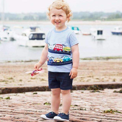 Cars on Road Cool Cotton Summer T-Shirt for Baby Boys - Peeksify.com
