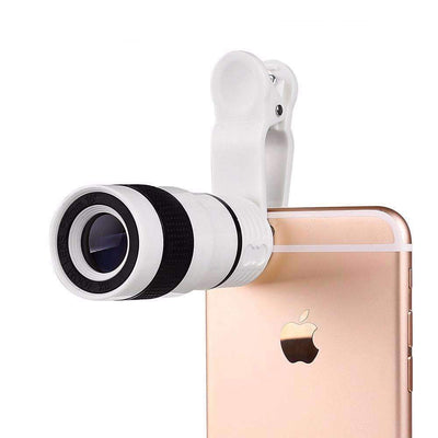 8x Optical Zoom Portable Telephoto Camera Lens with Clip for Smartphone, Smartphone Camera Lens - Peeksify.com