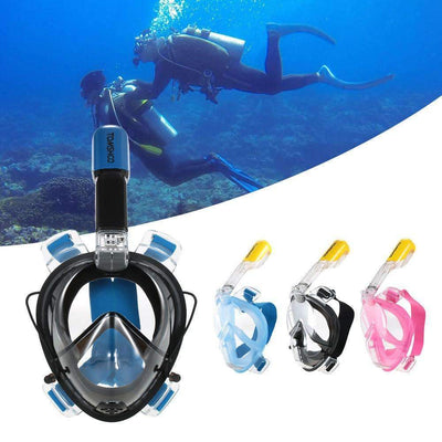 Full Face 180° Underwater Scuba Anti Fog Diving Mask [Sports Action Cam Version Available], Diving Masks - Peeksify.com