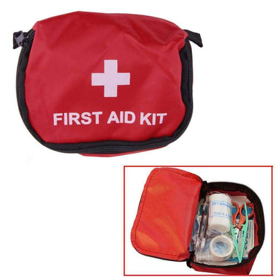 First Aid Kit 0.7L Red Camping Emergency Survival Waterproof Bag - Peeksify.com