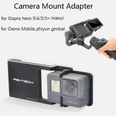 NEW ARRIVAL! Camera Adapter for GoPro Hero 5/4/3/3+ / Xiaomi Yi / Osmo Mobile / Zhiyun Gimbal, GoPro Accesories - Peeksify.com