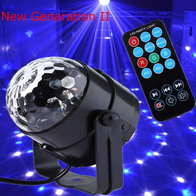 New Crystal Magic Ball 3W Mini RGB Stage Lighting Effect LED Light [US/EU Plugs Available], LED Spotlights - Peeksify.com