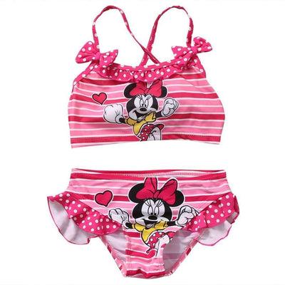 Minnie Mouse Summer Beachwear Two Pieces Swimsuit for Girls - Peeksify.com