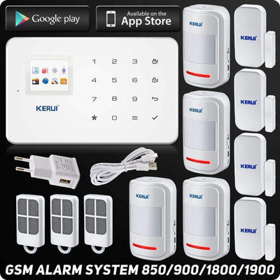 G18 GSM Smart Home Alarm System DIY Motion Sensor with Touch Keypad [iOS & Android Compatible], Home Alarm Systems - Peeksify.com
