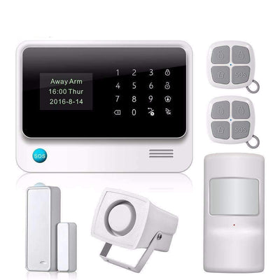 NEW Arrival G90B Plus WiFi GSM GPRS Smart Alarm System with Door/Window Sensors, Home Alarm Systems - Peeksify.com