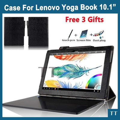 "10.1"" Smart Stand Case Cover for Lenovo YOGA BOOK [FREE Screen Film + Stylus Pen + Dust Plug], Lenovo Cases & Covers - Peeksify.com"
