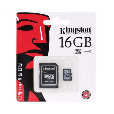Kingston 8GB/16GB Class4 Micro SD Card with SD Adapter, Micro SD Cards - Peeksify.com