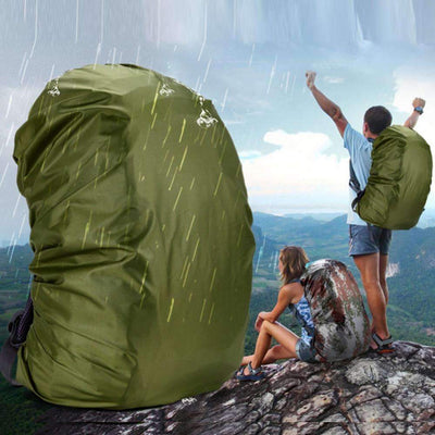 Waterproof Dust & Rain Bag Cover Backpack Fits up to 80L Capacity Backpacks - Peeksify.com