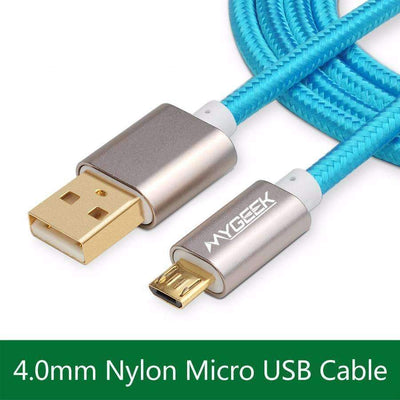 Nylon Woven Micro USB Charging Data Sync Cable for Android Compatible Devices, Micro USB Cables - Peeksify.com