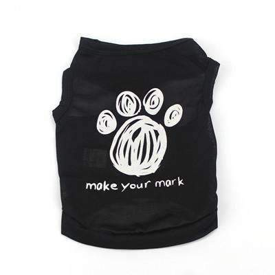 Summer Black Pet Dog Shirts - Peeksify.com