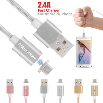 2.4A Fast Charging Magnetic USB Apple Lightning Cable for iPhone 7/6S/6/Plus/5S/5C/5 iPad iPod - Peeksify.com