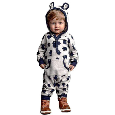 Winter Cartoon Hooded Long Sleeve Warm Playsuit for Baby Boys - Peeksify.com