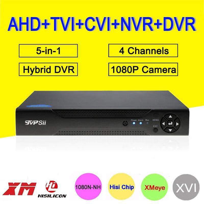 Hi3520D 1080P 4CH 5-In-1 Hybrid Coxail NVR TVI CVI AHD CCTV DVR Surveillance Camera Recorder, Security Cameras Video Recorders - Peeksify.com