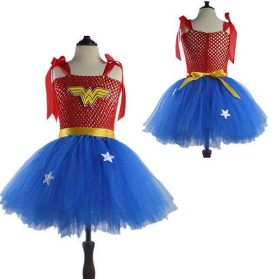Super Heroes Halloween Costume Party Tutu Dress for Girls - Peeksify.com