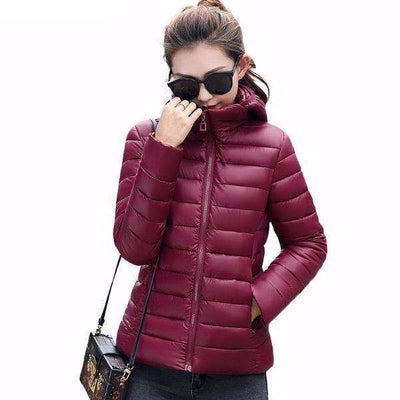 New Ultra Light Winter Down Padded Cotton Jacket for Women, Women Jackets - Peeksify.com