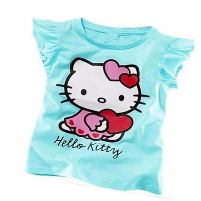 Summer Cute Hello Kitty Casual Cotton T-Shirt for Girls [4 Colors Available] - Peeksify.com