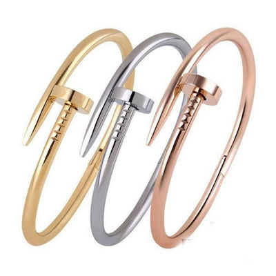 Screws Nail Cuff Bangle Love Bracelets for Women