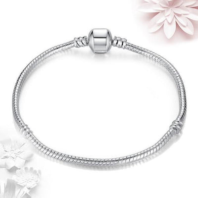 2 Pcs Lot Silver Pandora Style Basic Bracelet for Women - Peeksify.com