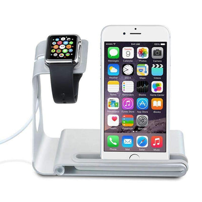 Multifunction Aluminum Alloy Charger Docking Station Apple Watch & iPhone 5/6/7/Plus Models - Peeksify.com