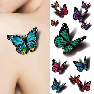 3D Flying Butterfly Waterproof Temporary Tattoo - Peeksify.com