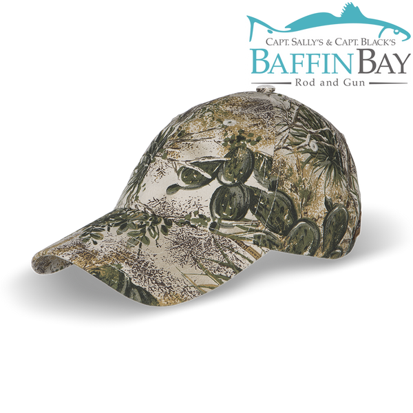 BBRG Logo Cap Camo / Unstructured / Camouflage Baffin Bay Rod And Gun Free Shipping