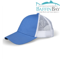 BBRG Logo Cap Pacific Blue / Meshback / Uni-Color Baffin Bay Rod And Gun Free Shipping
