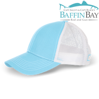BBRG Logo Cap River Blue / Meshback / Uni-Color Baffin Bay Rod And Gun Free Shipping