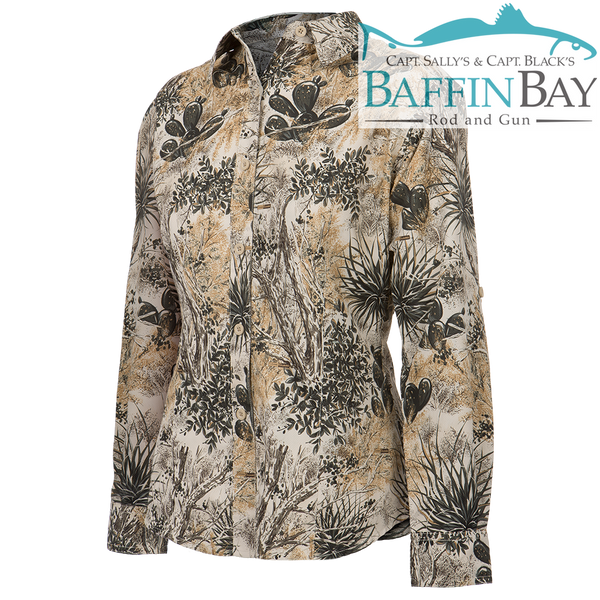 Ladies' MicroFiber Long Sleeves Camo / S Baffin Bay Rod And Gun Free Shipping
