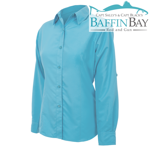 Ladies' MicroFiber Long Sleeves River Blue / S Baffin Bay Rod And Gun Free Shipping