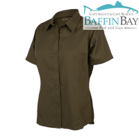Ladies' MicroFiber Shirt Olive / S Baffin Bay Rod And Gun Free Shipping