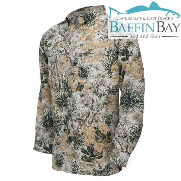 Men's MicroFiber Long Sleeves Camo / S Baffin Bay Rod And Gun Free Shipping