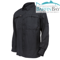 Men's MicroFiber Long Sleeves Caviar / S Baffin Bay Rod And Gun Free Shipping