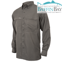 Men's MicroFiber Long Sleeves GunMetal / S Baffin Bay Rod And Gun Free Shipping