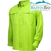 Men's MicroFiber Long Sleeves Key Lime / S Baffin Bay Rod And Gun Free Shipping
